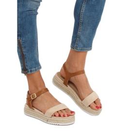 Sandałki espadryle beżowe Y-8224 Beige brązowe 1