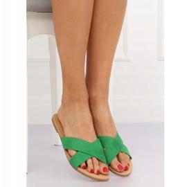 Klapki damskie zielone 930 Green 1