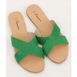 Klapki damskie zielone 930 Green 3