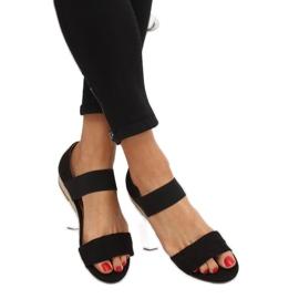 Sandałki espadryle czarne 9R71 Black 1