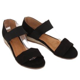 Sandałki espadryle czarne 9R71 Black 3