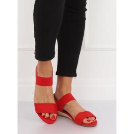 Sandałki espadryle czerwone 9R71 Red 2