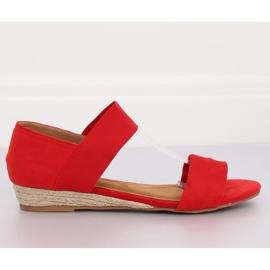 Sandałki espadryle czerwone 9R71 Red 4