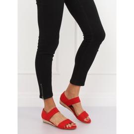 Sandałki espadryle czerwone 9R71 Red 1