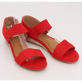 Sandałki espadryle czerwone 9R71 Red 3