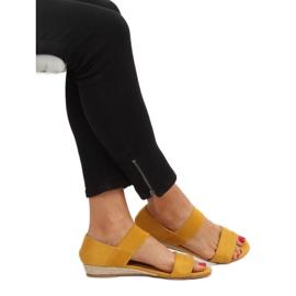 Sandałki espadryle żółte 9R71 Yellow 2