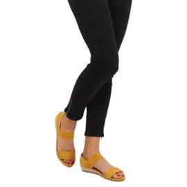 Sandałki espadryle żółte 9R71 Yellow 1