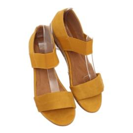 Sandałki espadryle żółte 9R71 Yellow 3