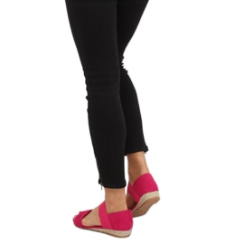 Sandałki espadryle fuksjowe 9R71 Rose różowe 1