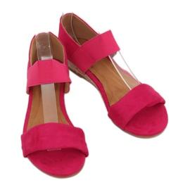 Sandałki espadryle fuksjowe 9R71 Rose różowe 3