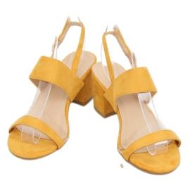 Sandałki na obcasie żółte 660-1/SA-2 Yellow 3