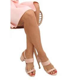 Sandałki na obcasie różowe 660-1/SA-2 Pink 2