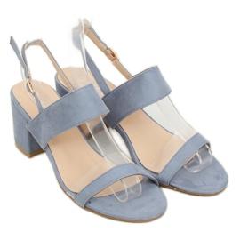 Sandałki na obcasie niebieskie 660-1/SA-2 Blue 3