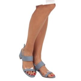 Sandałki na obcasie niebieskie 660-1/SA-2 Blue 1