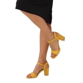 Sandałki na słupku żółte FH-3M25 Yellow 3