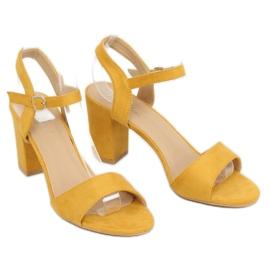 Sandałki na słupku żółte FH-3M25 Yellow 1