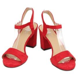 Sandałki na słupku czerwone FH-3M25 Red 1