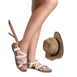 Bestelle Białe Sandały Damskie 1