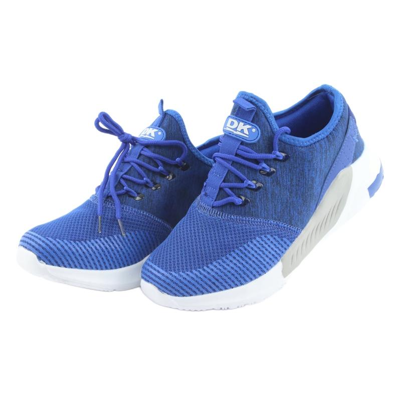 Niebieskie Buty sportowe męskie DK 18470 royal blue zdjęcie 3