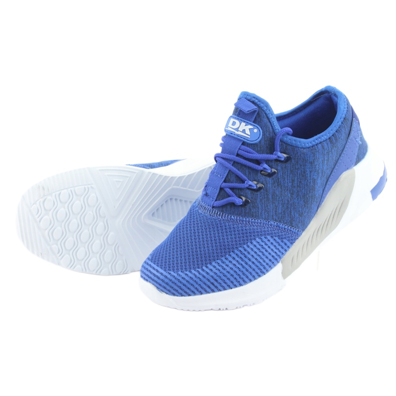 Niebieskie Buty sportowe męskie DK 18470 royal blue zdjęcie 4