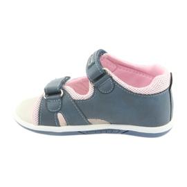 Sandałki dziewczęce American Club DR20 denim niebieskie różowe 2
