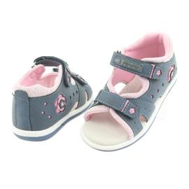 Sandałki dziewczęce American Club DR20 denim niebieskie różowe 4