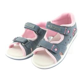 Sandałki dziewczęce American Club DR20 denim niebieskie różowe 3
