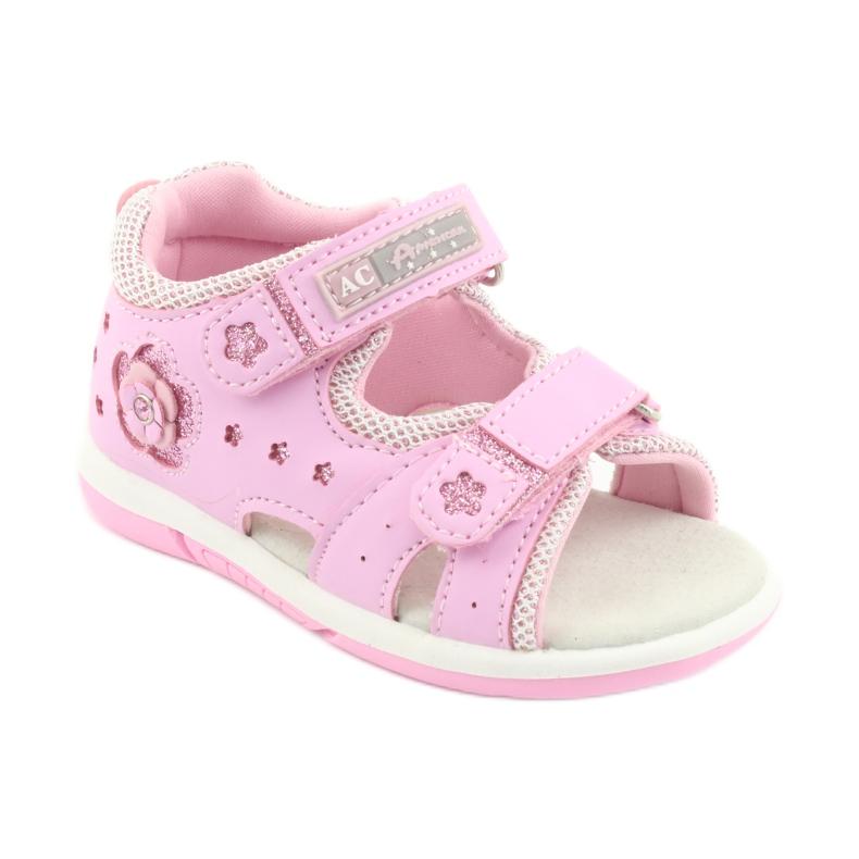 Sandałki dziewczęce American Club DR20 różowe zdjęcie 1