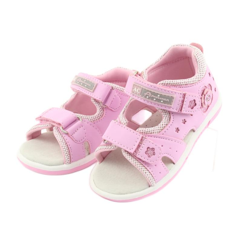 Sandałki dziewczęce American Club DR20 różowe zdjęcie 3