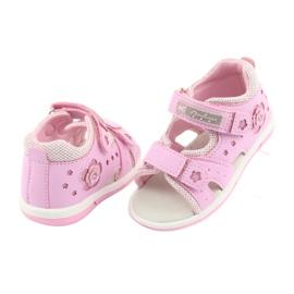 Sandałki dziewczęce American Club DR20 różowe 4