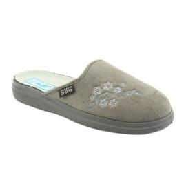 Befado obuwie damskie  pu 132D013 szare 1