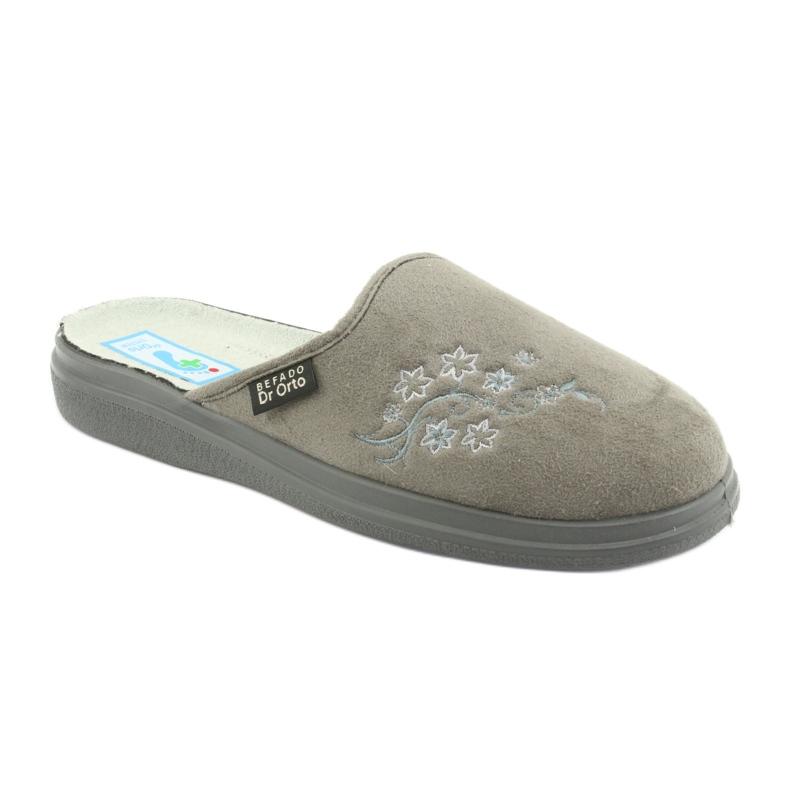 Szare Befado obuwie damskie  pu 132D013 zdjęcie 1