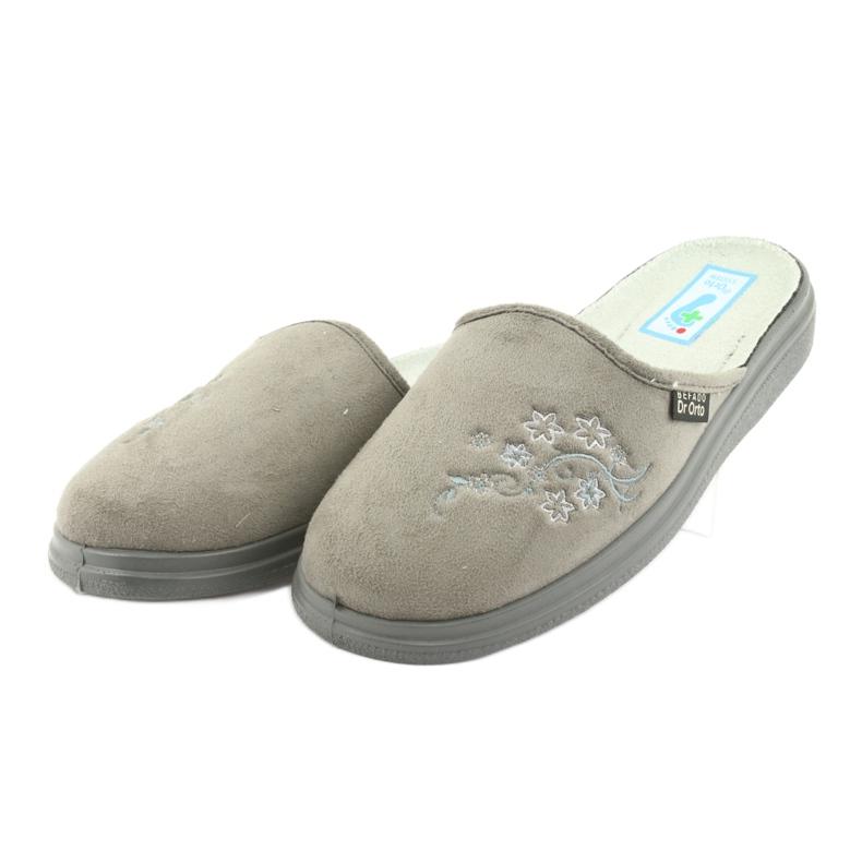 Szare Befado obuwie damskie  pu 132D013 zdjęcie 3