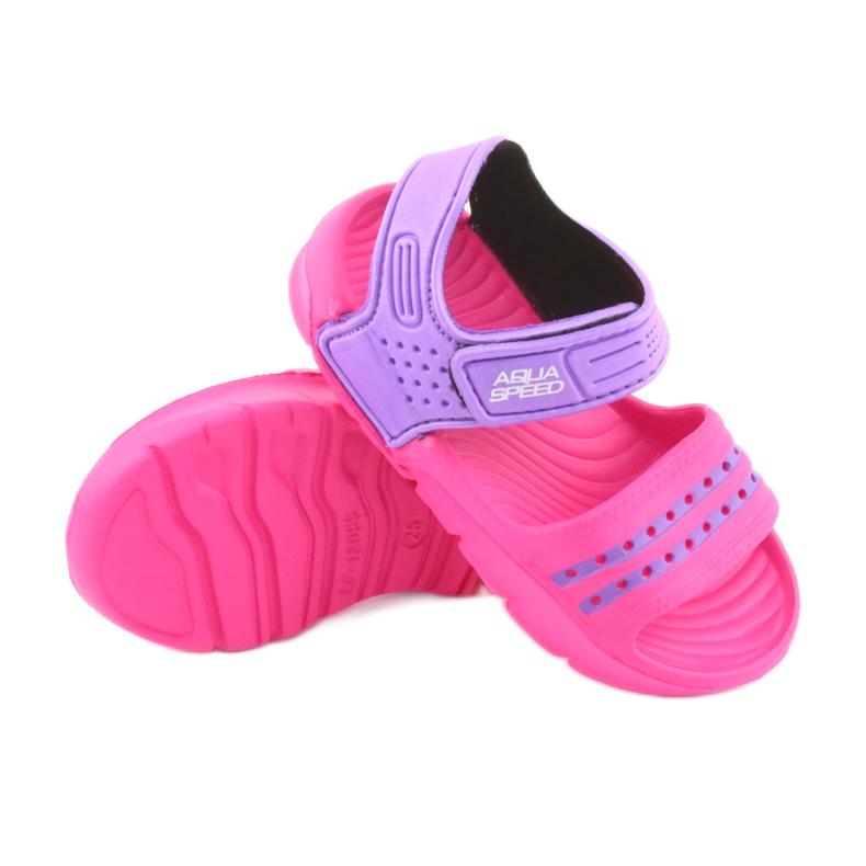 Sandały Aqua-speed Noli różowo fioletowe kol.39 zdjęcie 3