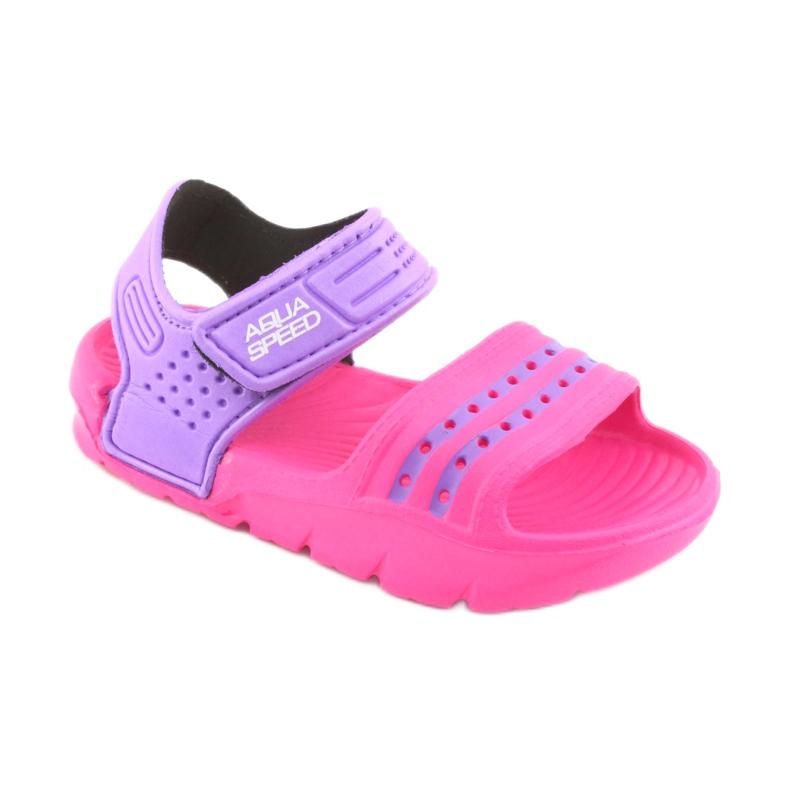 Sandały Aqua-speed Noli różowo fioletowe kol.39 zdjęcie 1
