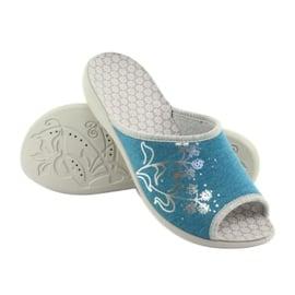 Befado obuwie damskie pu 254D102 niebieskie 5