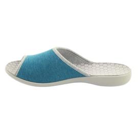 Befado obuwie damskie pu 254D102 niebieskie 3