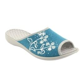 Befado obuwie damskie pu 254D102 niebieskie 2