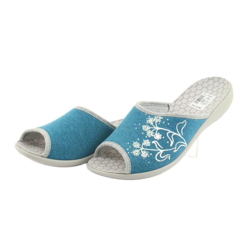 Niebieskie Befado obuwie damskie pu 254D102 zdjęcie 3