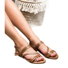 Primavera Klasyczne Brązowe Sandały 3