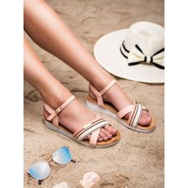 Bello Star Sandały Zapinane Sprzączką różowe 4