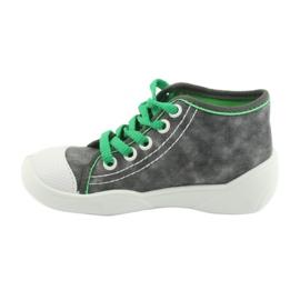 Befado obuwie dziecięce 218P053 szare zielone 3