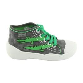 Befado obuwie dziecięce 218P053 szare zielone 1