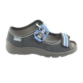 Befado obuwie dziecięce 969X127 niebieskie granatowe 1