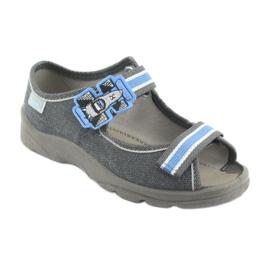 Befado obuwie dziecięce 969X127 niebieskie granatowe 2
