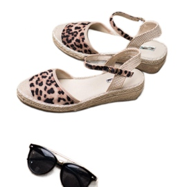 Best Shoes Espadryle Na Koturnie brązowe 1