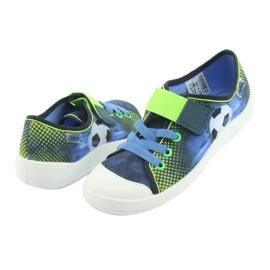 Befado obuwie dziecięce 251Y121 niebieskie zielone granatowe 4