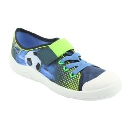 Befado obuwie dziecięce 251Y121 niebieskie zielone granatowe 2