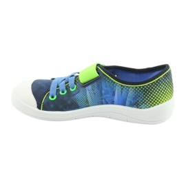 Befado obuwie dziecięce 251Y121 niebieskie zielone granatowe 3