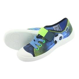 Befado obuwie dziecięce 251Y121 niebieskie zielone granatowe 5